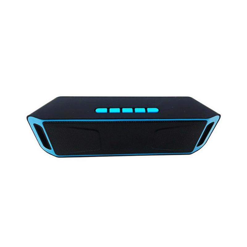 SC208 Wireless Bluetooth Speaker Mobile Phone Hands free Subwoofer TF Card Double Loudspeaker Portable Outdoor Car Audio-in Portable Speakers from Consumer Electronics