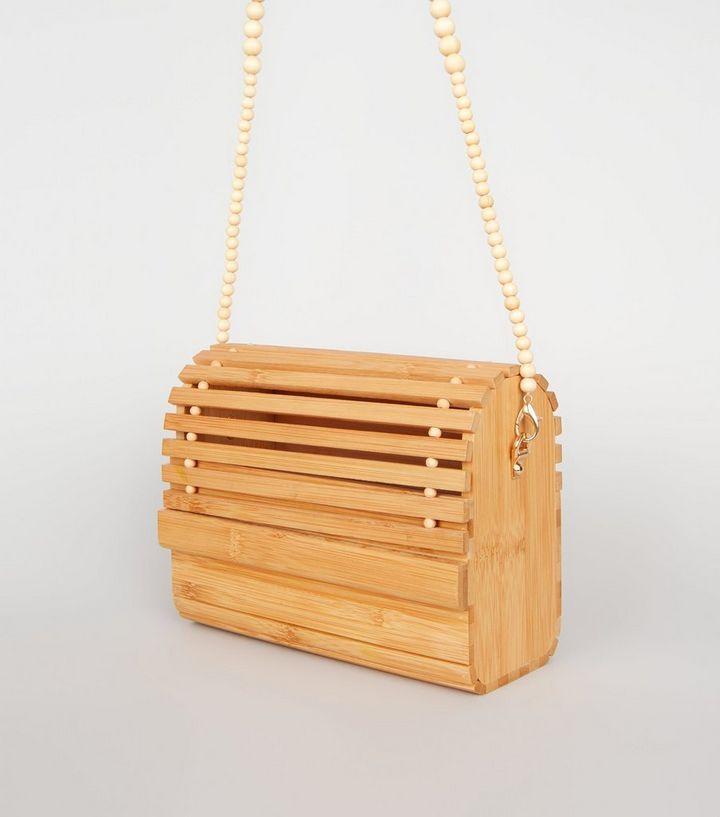 [Telastar] sac en bambou tissé sac à main en bois perlé mode sac à bandoulière été plage épaule rabat dames Messenger sac 2019 nouveau