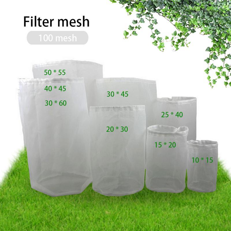 Topselling 8 Sizes Home Beer Brewing Wine Filter Bag Tea Nuts Juice Milk Nylon Net Filter Bag Net Filter Reusable