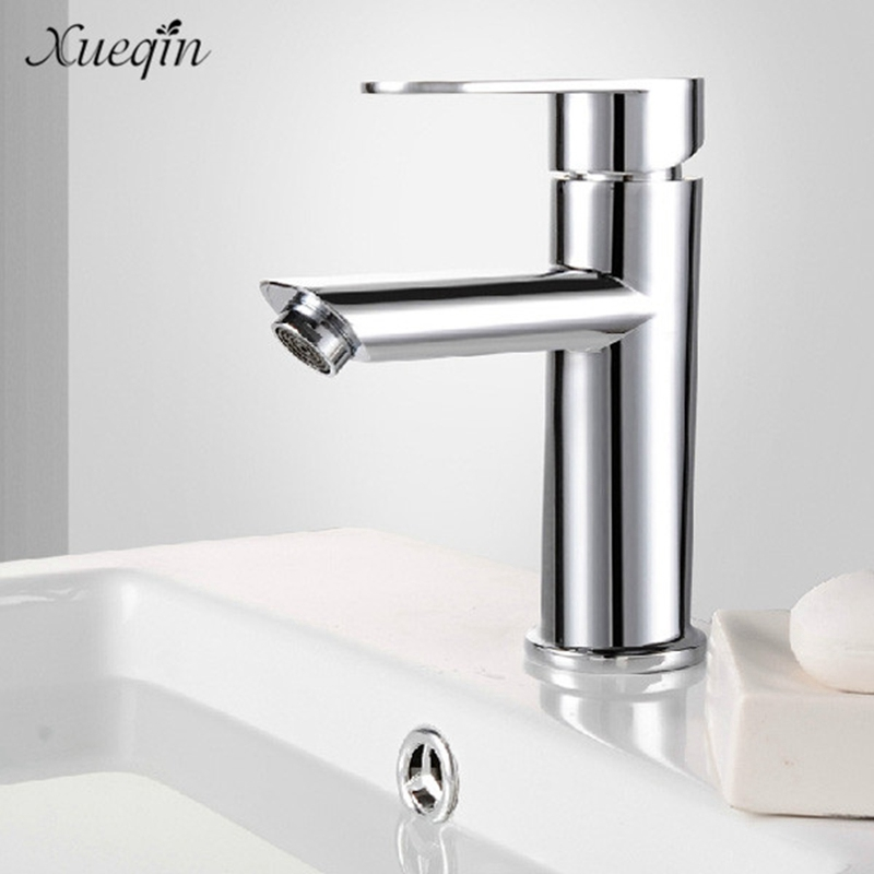 Xueqin Home Kitchen Bathroom Basin Sink Water Faucet Single Handle Hot Cold Water Mix Faucets Washbasin Tap