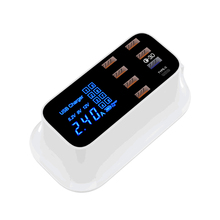 Quick Charge 3.0 Smart USB Type C Charger Station Led Display Fast Charging Phone Tablet USB Charger For iPhone Samsung Adapter quick charge smart mobile usb charger socket 3port usb type c fast charging charger wall power adapter led display desktop strip