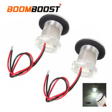 For Boats Navigation Lamp 2 PCS 12V LED White Waterproof Marine Courtesy Light  Perfect for Livewells/lockers/compartments
