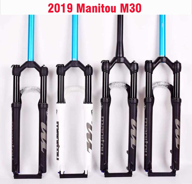 "2019 Manitou M30 Markhor 26/"" 27.5/"" 29/"" Air Suspension Fork Manual Remote MTB"