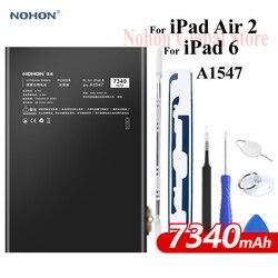 Nohon Аккумулятор для iPad 6 Air 2 A1547 7340 мАч A1566 A1567 литий-полимерный планшет батарея + Бесплатные инструменты для Apple iPad Air2 iPad6 батарея