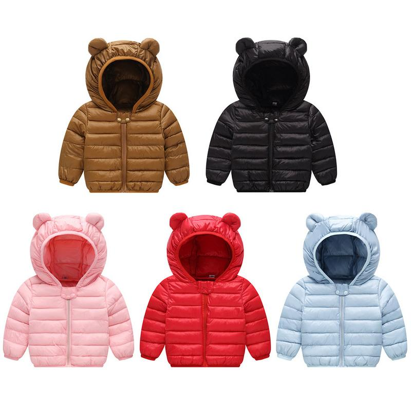Coats Jacket Puffer Baby-Boys-Girls Winter Hoods for Kids with Bokep