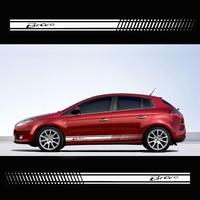 Stylish car body sticker vinyl body decal racing stripe sticker for Fiat Bravo Car accessories