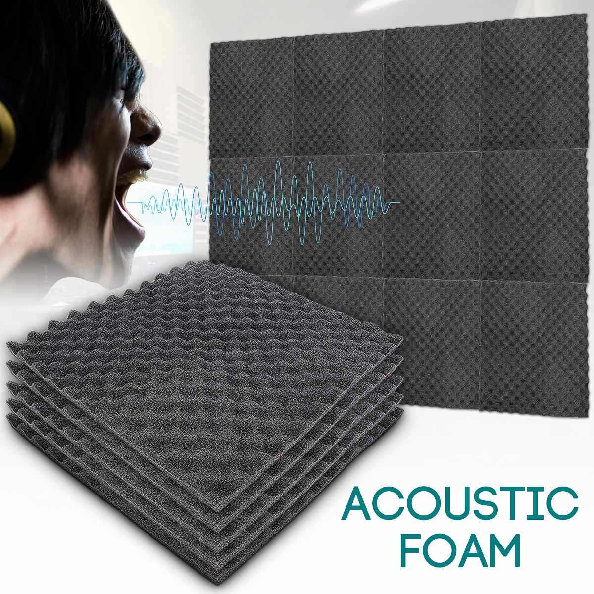 1PCS 50x50cm Sound Absorbing Soundproofing Foam Home Studio Acoustic Sound Treatment Absorption Wedge Tile Polyurethane Foam