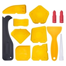 12 Pieces Caulking Tool Kit Silicone Sealant Finishing Grout Scraper Caulk Remover And Nozzle Caps