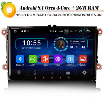9 Quad Core Android 8.1 DAB+ Navi Autoradio Car stereo OPS Bluetooth Car Radio Player for Jetta Polo Magotan T5 Touran Tiguan image