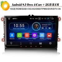9 Quad Core Android 8.1 DAB+ Navi Autoradio Car stereo OPS Bluetooth Car Radio Player for Jetta Polo Magotan T5 Touran Tiguan