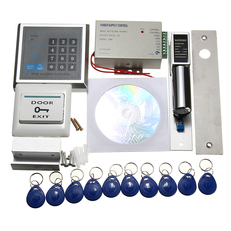 MJPT020 Electric RFID Access Control ID Password Safty Entry System Door Lock Magnetic Set Access Control System KitMJPT020 Electric RFID Access Control ID Password Safty Entry System Door Lock Magnetic Set Access Control System Kit