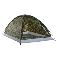 TOMSHOO Camping Tent for 2 Person Single Layer Naturehike Tents Outdoor Portable Camouflage Tarp Sun Shade Awning Tourism