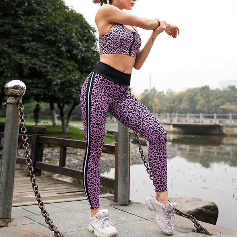 Casual high waist leopard leggings women sportswear fitness clothing 2018 athleisure sexy legging activewear pants