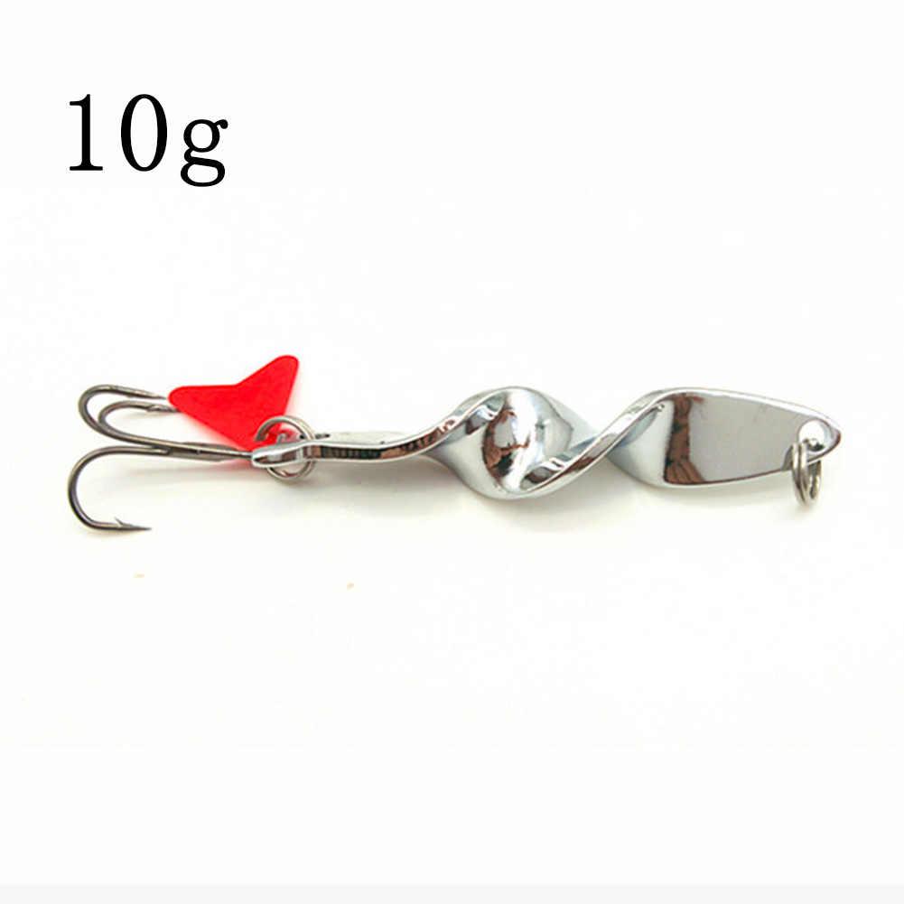 10g/14g/21g/28g de pesca señuelos cucharas de hundimiento de Metal Spinner giratorio señuelo de pesca cebos duros para truchas de salmón (14g, Plata)