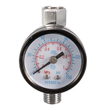 1/4 дюймовый Воздушный Распылитель давления GaugeAir регулировочный клапан регулятор с стеклянный датчик металла черный