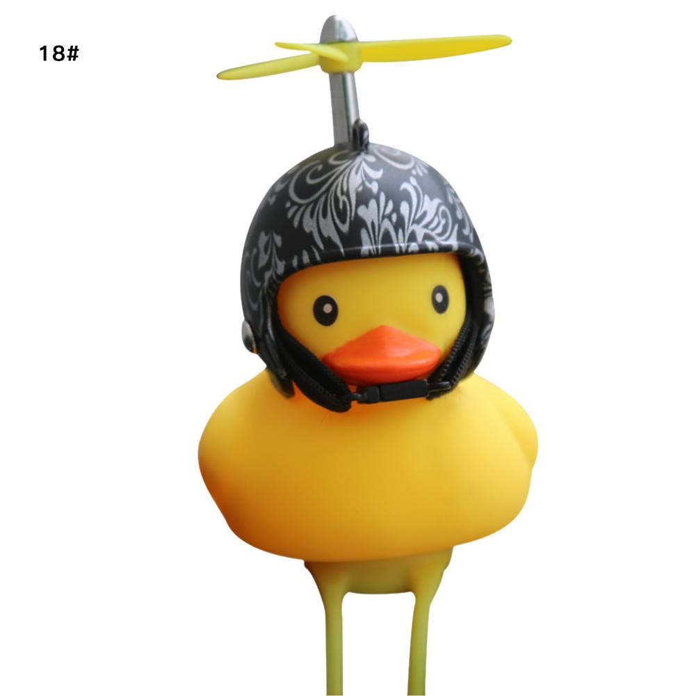 Kids Bike Horn, Bicycle Lights Bell,Lovely Cute Duck Squeeze Helmet Propeller Handlebar Bell Light Horn Lamp For Toddler Child