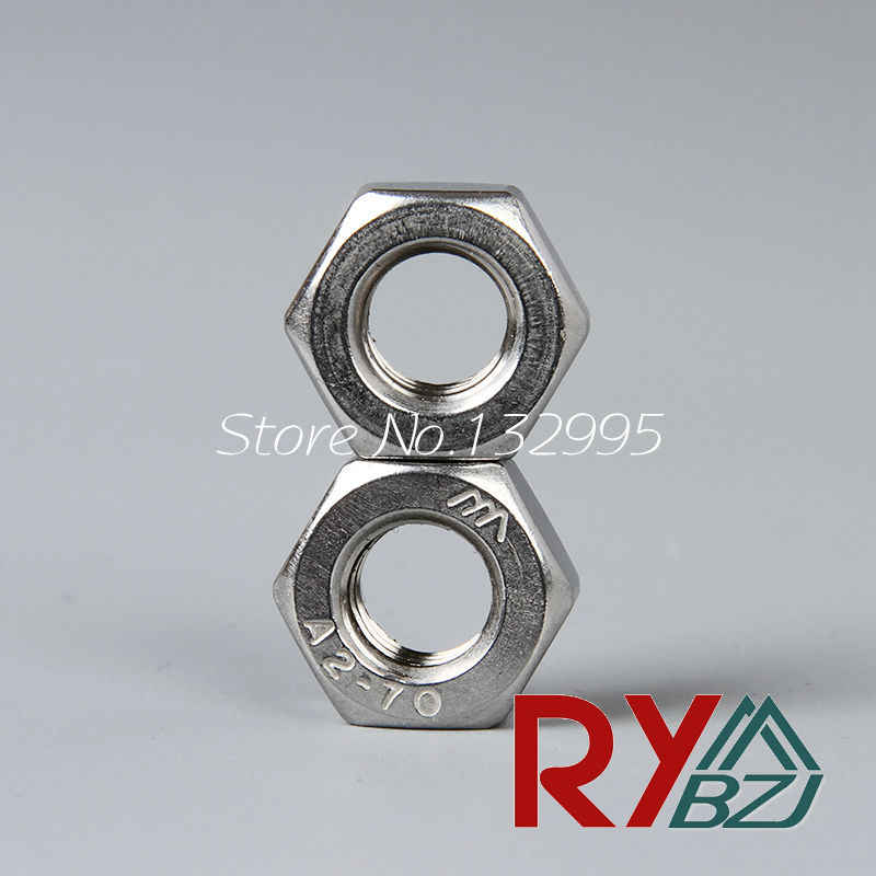 #2-56 Hex Nuts A2 304 18-8 Stainless Steel