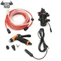 DANIU 12V Portable 100W 160PSI High Pressure Car Electric Washer Auto Wash Pump Set Tool 5 Spraying Modes Lighter Water Pump Set