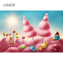 Laeacco Forest Girls Candy Cake Backdrop Photography Backgrounds Customized Photographic Backdrops For Photo Studio