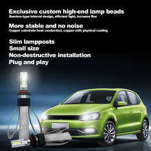 60W 18000LM LED high brightness car headlights 9005 9006 H1 H4 H7 H11 Copper belt with speed heat dissipation 12V 24V(2pcs)
