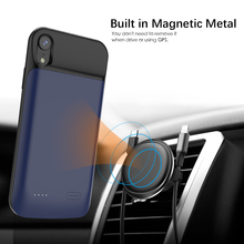For iPhone Xr Battery Charger Case With Audio 6000mAh Magnetic External Backup Charger Power Bank Protective Phone cover