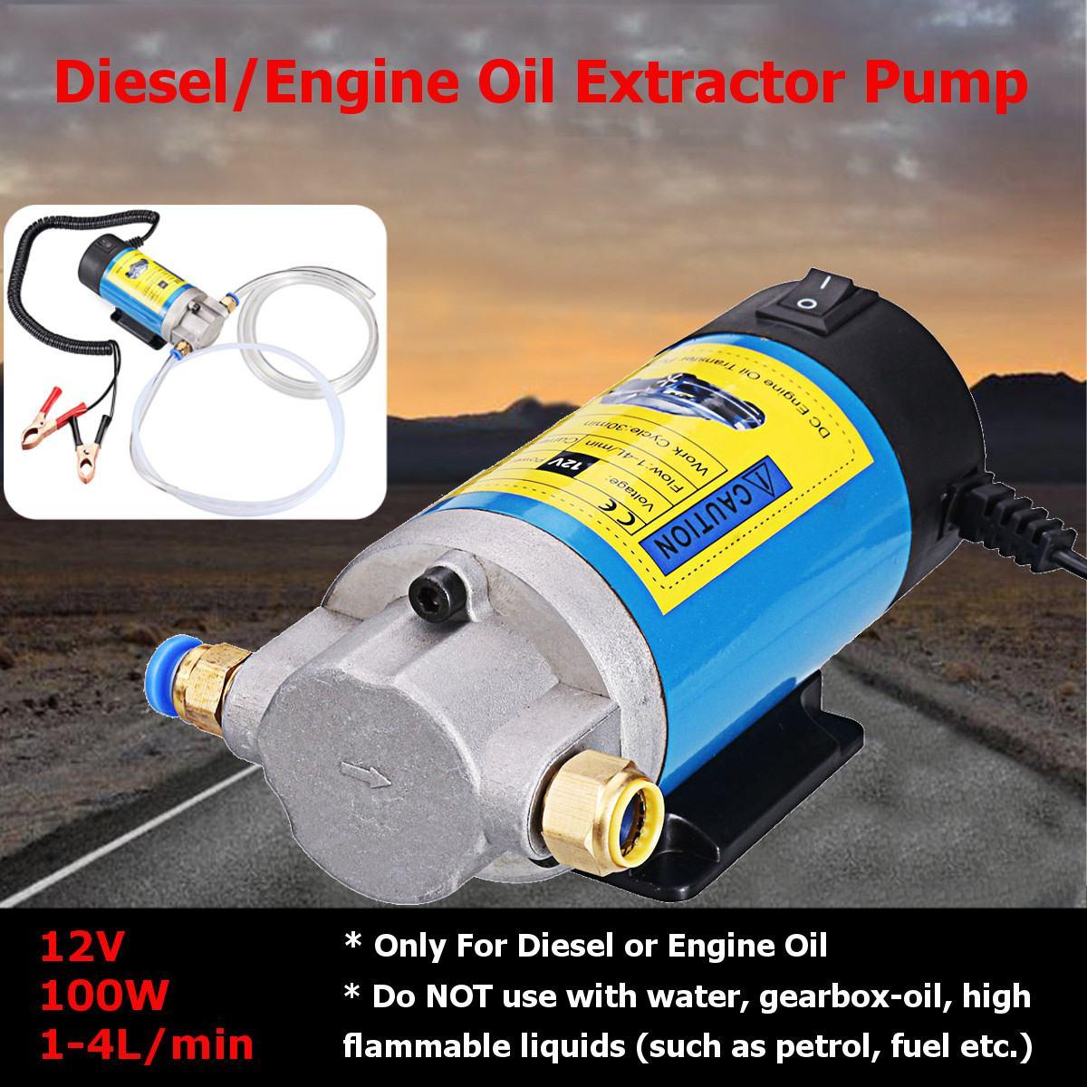 Pompe d'aspiration de transfert électrique d'extracteur de fluide de carburant Diesel d'huile 5A 12 V 100 W 1-4L/min