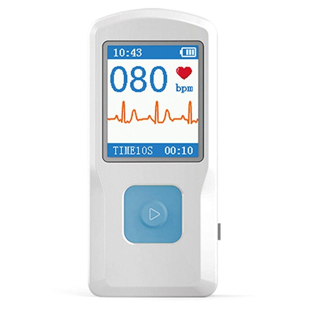 CONTEC Monitor de ECG ECG Máquina Eletrocardiógrafo ECG monitor de freqüência cardíaca Portátil Handheld Máquina Coração Do Bebê Monitor Cardíaco