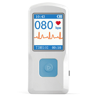 CONTEC Portable ECG EKG Machine Heart rate monitor Electrocardiograph ECG Monitor Handheld Heart Machine Baby Heart Monitor