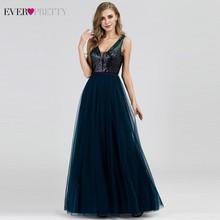 Элегантные вечерние платья с длинным рукавом и v образным вырезом, вечерние платья трапециевидной формы без рукавов с блестками EP07910NB, блестящие вечерние платья 2020