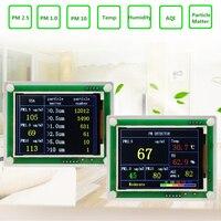ZEAST PM2.5 Air Quality детектор 2,8 дюйма TFT угол лазерный рассеяние ARM 32 бит чипы обнаружения датчик высокой чувствительности