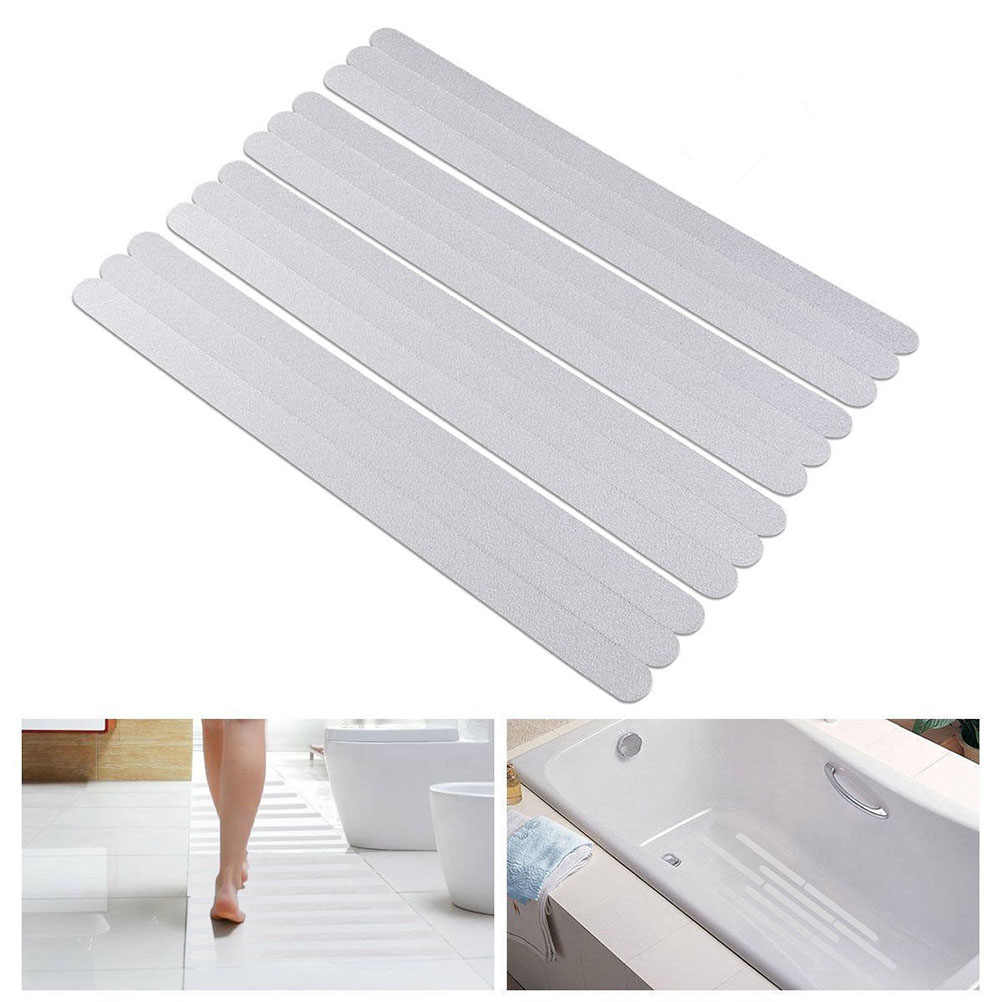 Strip Anti-Slip Shower Stiker Mandi Keselamatan Strip Transparan Non Slip Strip Stiker untuk Bak Mandi Shower Tangga Lantai