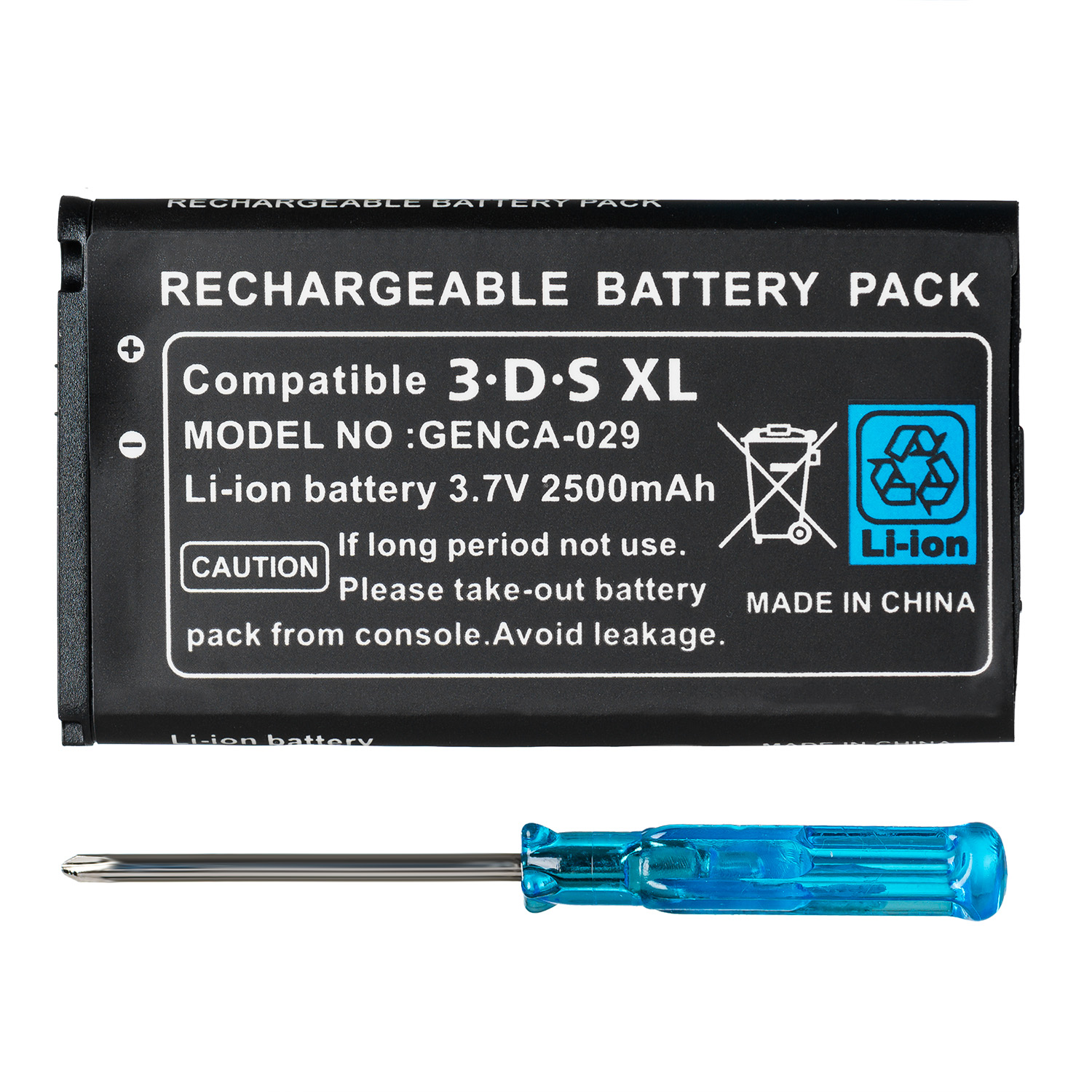 OSTENT 2500mAh 3.7V Rechargeable Lithium-ion <font><b>Battery</b></font> + Tool Kit <font><b>Pack</b></font> for Nintendo <font><b>3DS</b></font> LL/XL image