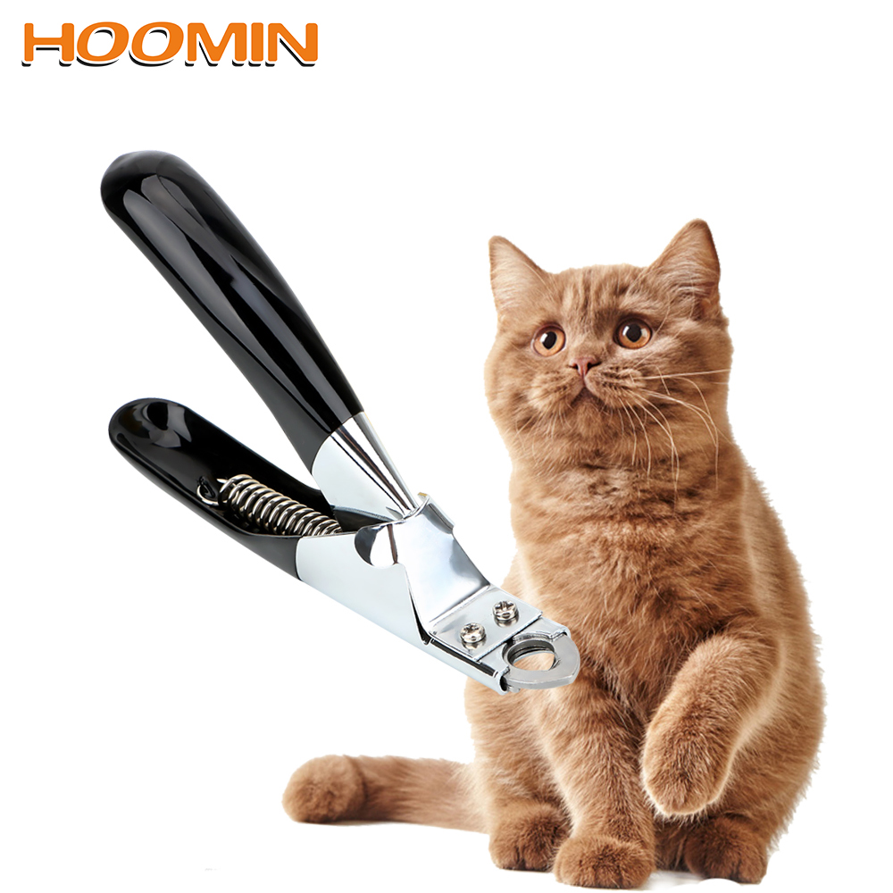 HOOMIN Stainless Steel Pet Nail Clippers Cat Grooming Cutter Claw Scissors Trimmer Cat Supplies Pet Products