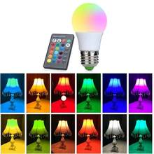 E27 LED 16 Color Changing RGB Magic Light Bulb Lamp 5/10/15W 85-265V 110V 120V 220V RGB Led Light Spotlight + IR Remote Control(China)