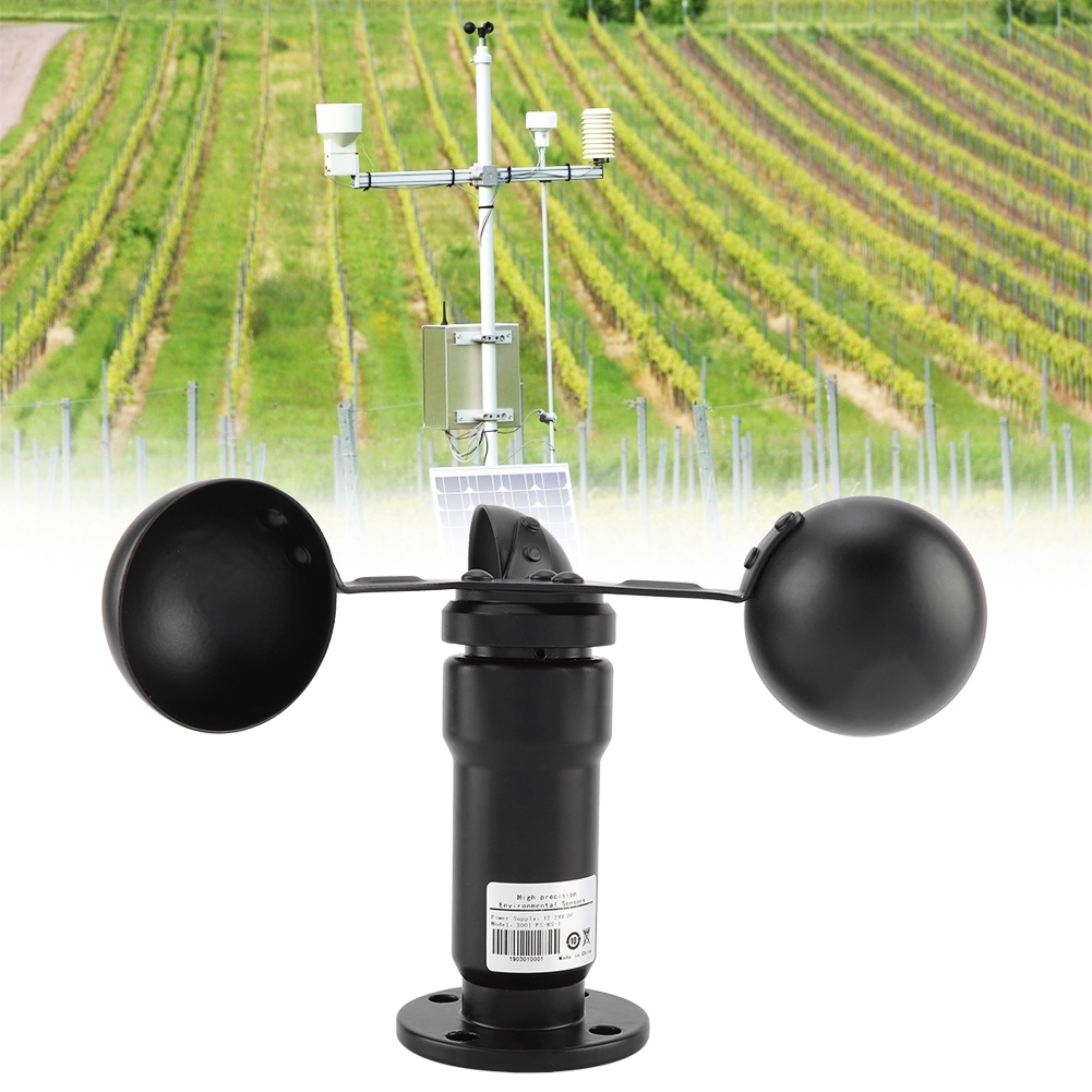 Pulse Signal Wind Sensor Digital Anemometer  Pulse Signal Output Aluminum Alloyed Wind Speed Sensor Anemometer Wind Speed Meter