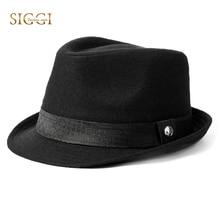 FANCET 1920s Mens Fedora Felt Hats Solid Soft Fashion Wool H