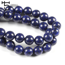 6 8 10 Mm Round Natural Lapis Lazuli Beads For Jewelry Making Diy Bracelet Necklace Loose Blue Stone Strand Beads S101(China)