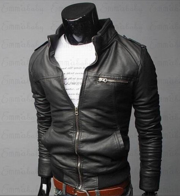 Mens Classic Motorcycle Leather Jacket 3
