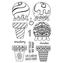 Ice cream Transparent Clear Silicone Stamp/Seal for DIY scrapbooking/photo album Decorative clear stamp