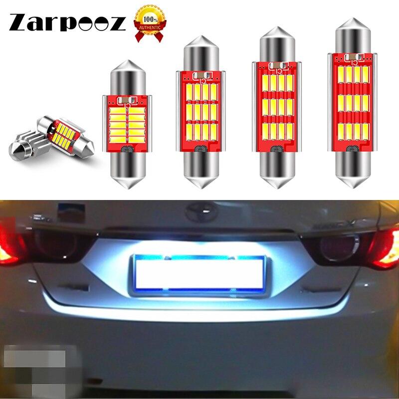 Zarpooz 1 Pc Car Interior Lamp Reading Bulb White Light 31mm 36mm 39mm 41mm 4014 White Reading Bulbs