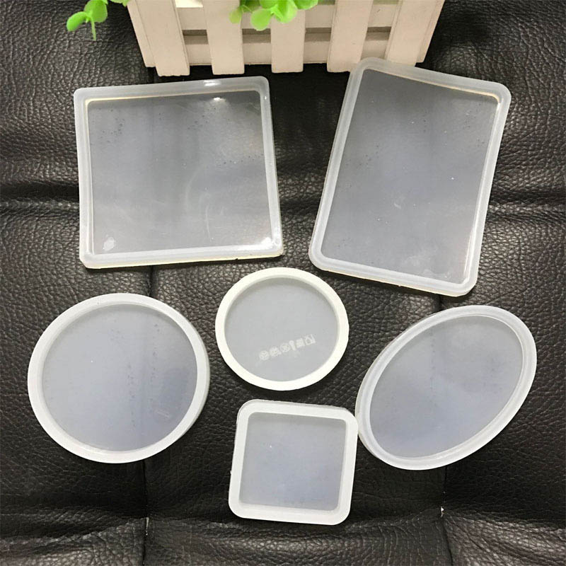 Clear Clay Molds Making Pottery Tools Ceramics Molds Polymer Clay Resin Craft Mould Round Oval Square Shaped Silicone Portable