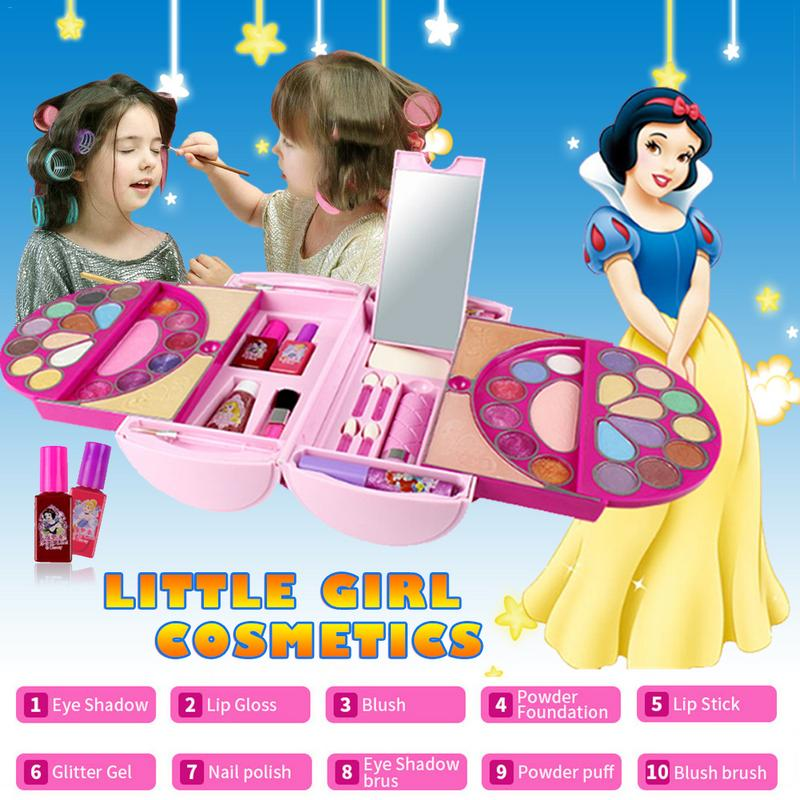 53Pcs Cosmetic Kit for Disney Pandora Magic Mirror Series Makeup Toy Ornaments Safe and No Toxic for Girl Practicing Make up-in Beauty & Fashion Toys from Toys & Hobbies    1