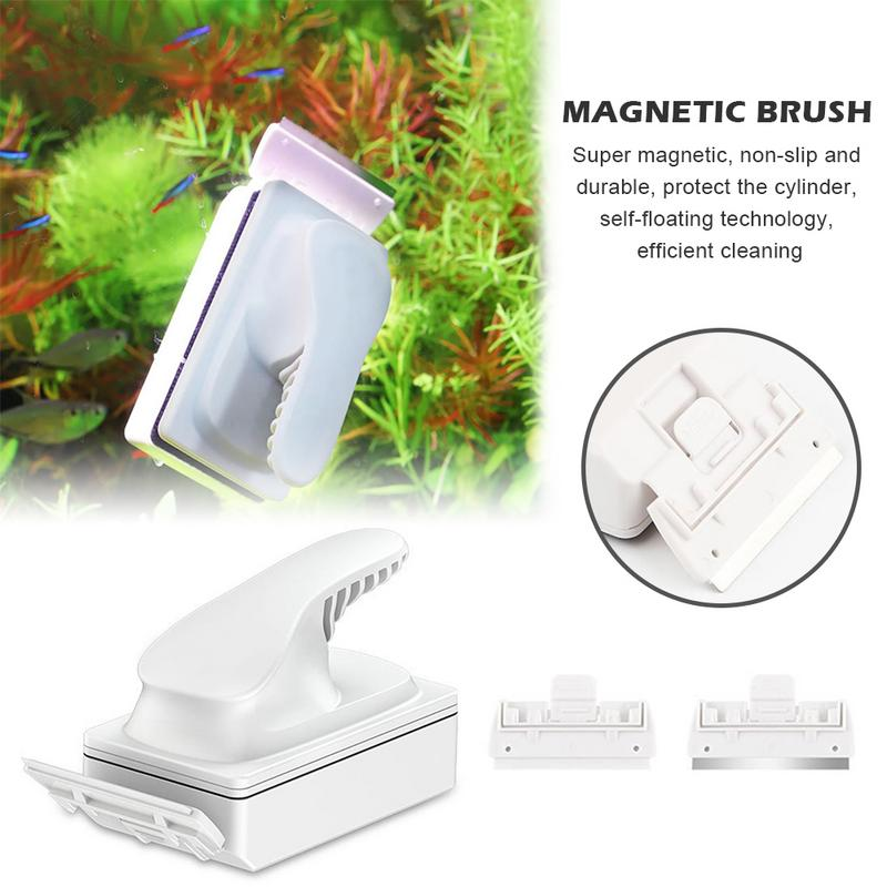 Fish Tank Magnetic Brush Glass Wipe Aquarium Cleaning Tool Double-sided Cleaning Brush Strong Suction Remove Algae with ScraperFish Tank Magnetic Brush Glass Wipe Aquarium Cleaning Tool Double-sided Cleaning Brush Strong Suction Remove Algae with Scraper