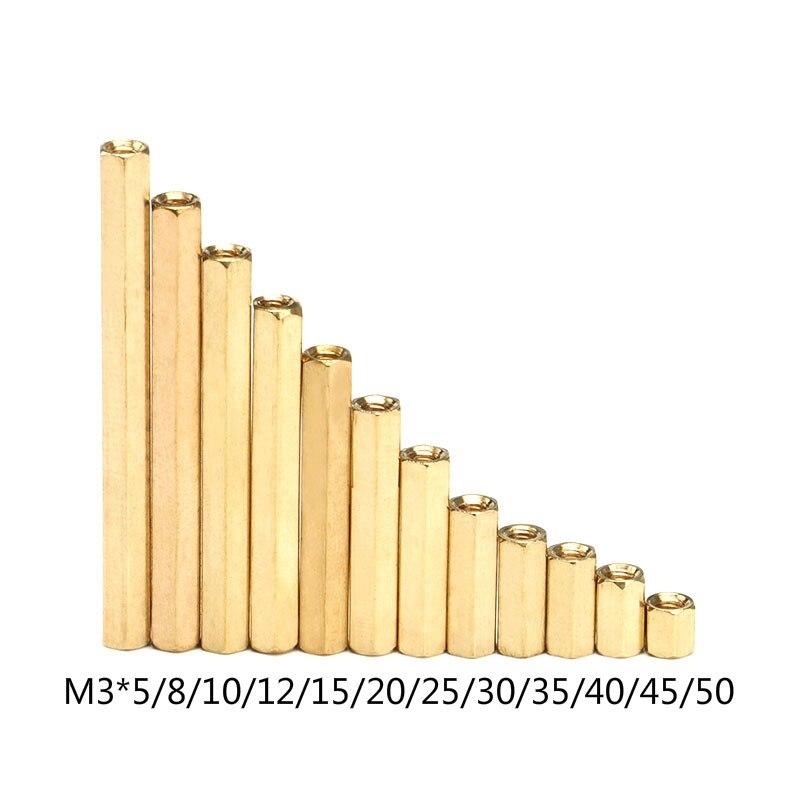 20 шт./партия M3 женский контейнер с раздельными отсеками для латунных изделий M3 (5-50) медный шестигранный разделитель полые штыри m3 * 5-50 мм