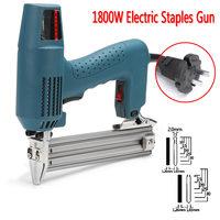 1800W Framing Tacker U Stapler Electric Nailer Staples for Guns Hand Tool Woodworking Tools 220 240V AC