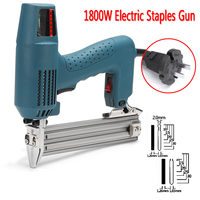 1800W Framing Tacker U Stapler Electric Nailer Staples for Guns With 825Pcs Nails Hand Tool Woodworking Tools 220 240V AC