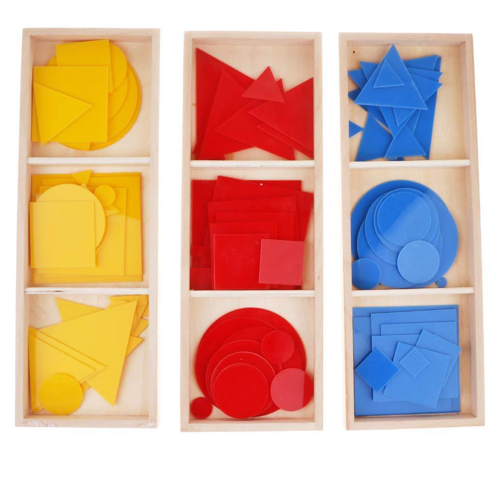 Montessori mathématiques matériaux 90 pièces cartes géométriques couleur forme reconnaissance début d'apprentissage jouets éducatifs pour enfants enfants