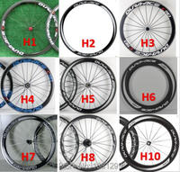 Brand New 700C 38 50 60 88mm Road bike aero 3K UD 12K full carbon fibre bicycle wheelset carbon clincher tubular rims Free ship