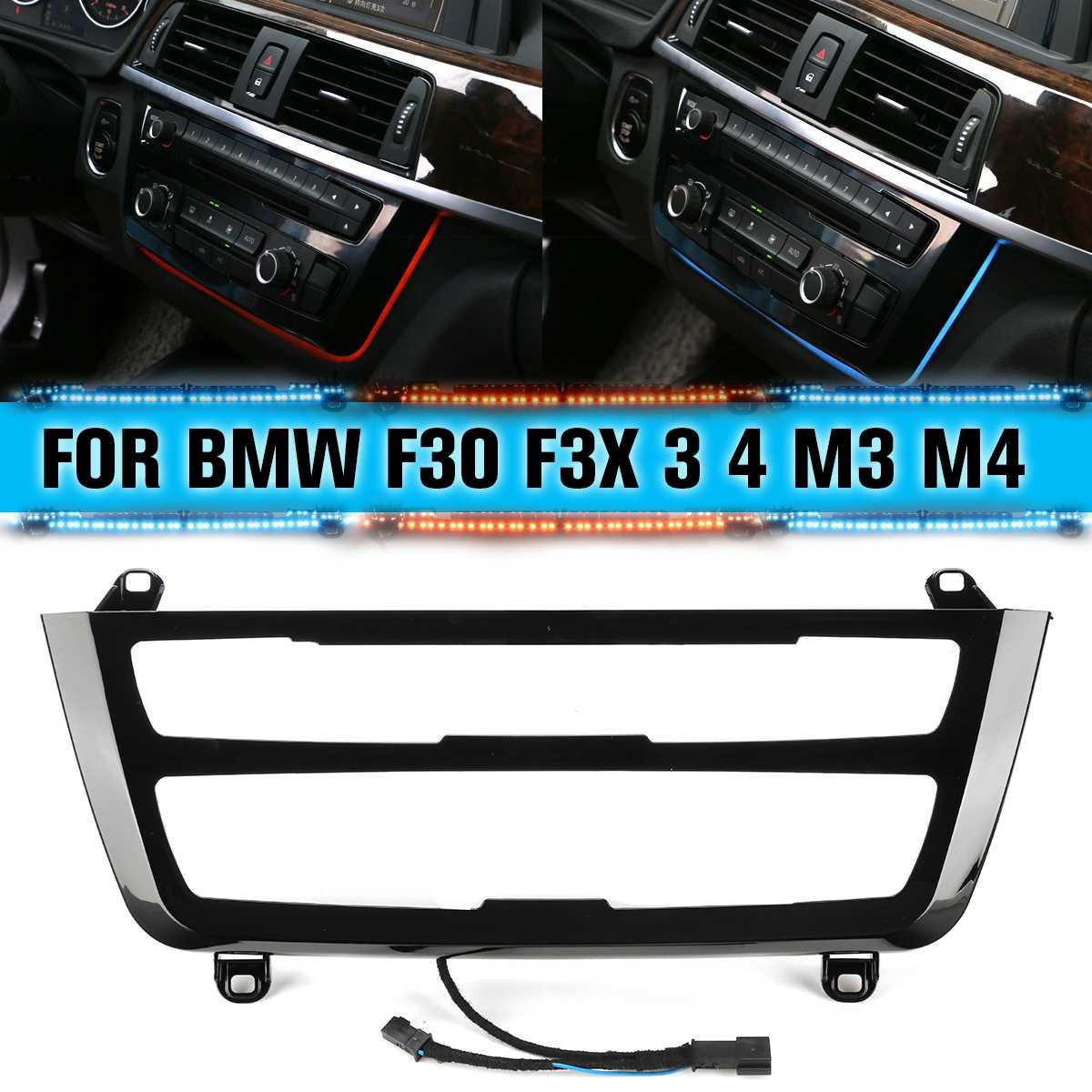 Pour BMW 3 & 4 Series F30 M3 M4 LCI garniture Radio tableau de bord LED Console centrale AC panneau lumière bleu Orange 2 couleurs atmosphère lumière