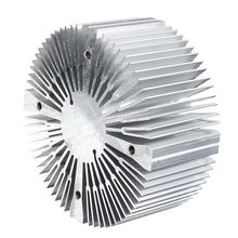 CLAITE 6063 Aluminium 90*40mm Round Shape Heatsink for 20W 30W 50W 100W High Power LED Bead Surface inner 4 Holes(China)